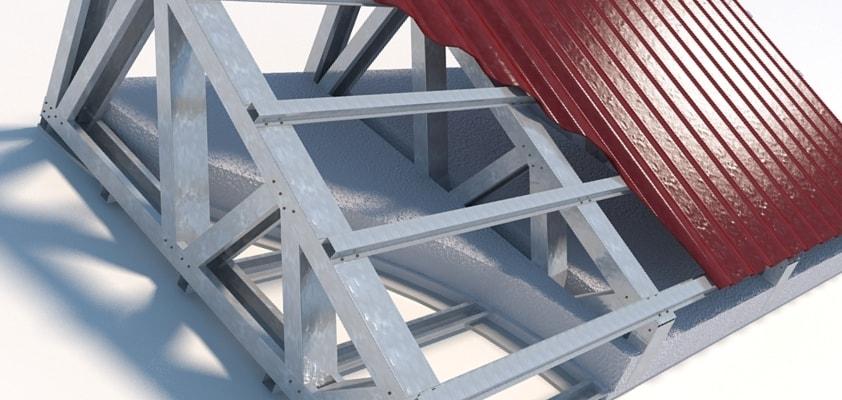 металлическая обрешетка крыши