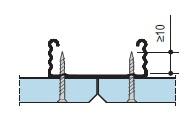 Правильное крепление к профилю гипсовой строительной плиты
