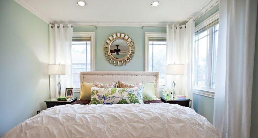 как увеличить комнату с помощью штор