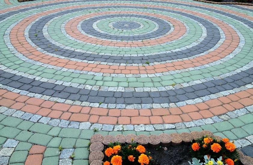 Изготовление цветной тротуарной плитки своими руками