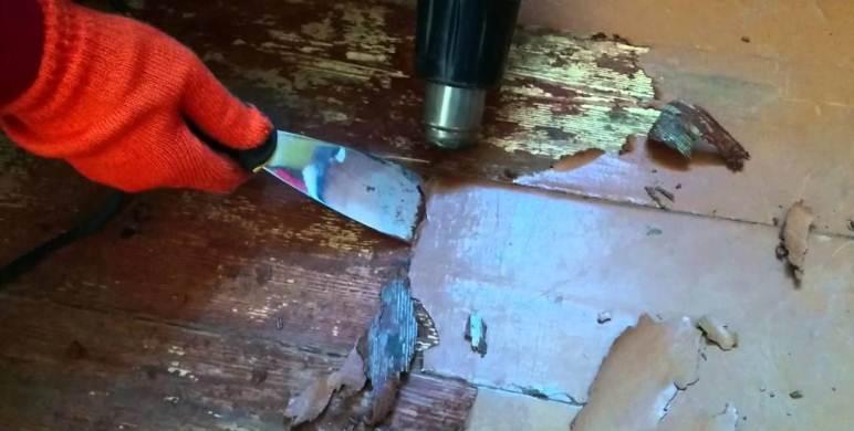 Как покрасить старый деревянный пол
