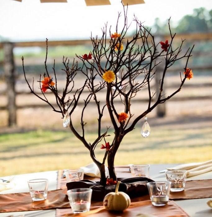 Декор из веток деревьев своими руками 373