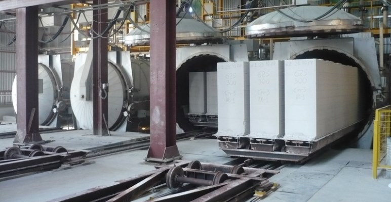 Промышленное производство газобетона
