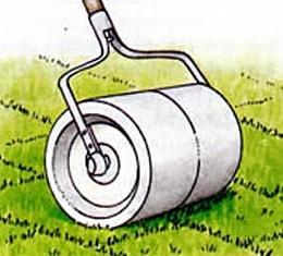 схема укладки рулонного газона