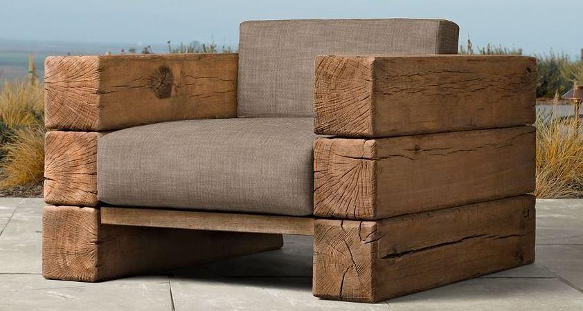 оригинальная садовая мебель из дерева