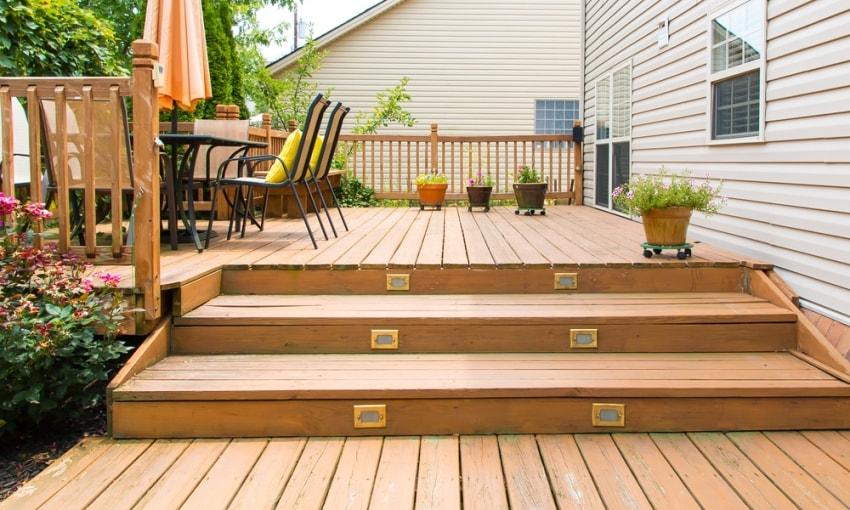 деревянная доска для террасы