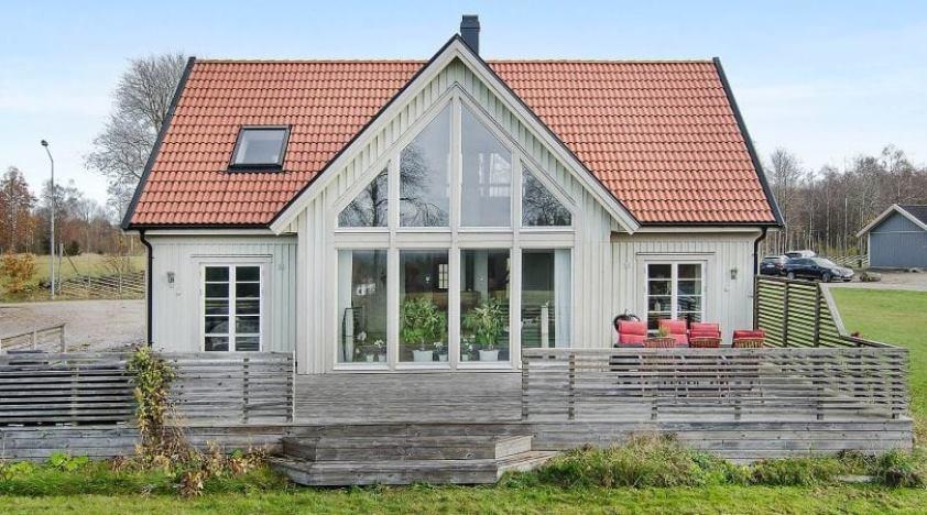 каркасный дом в скандинавском стиле