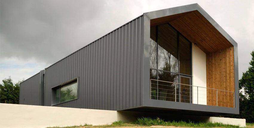каркасный дом минимализм