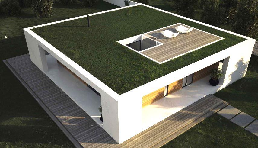 плоская крыша в стиле минимализм