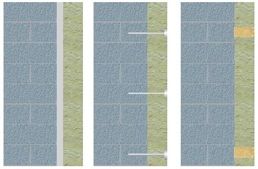 крепление минеральной ваты к стене