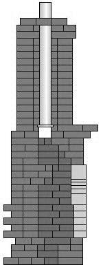 Угловой камин в разрезе
