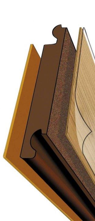 Структура ламинированной доски