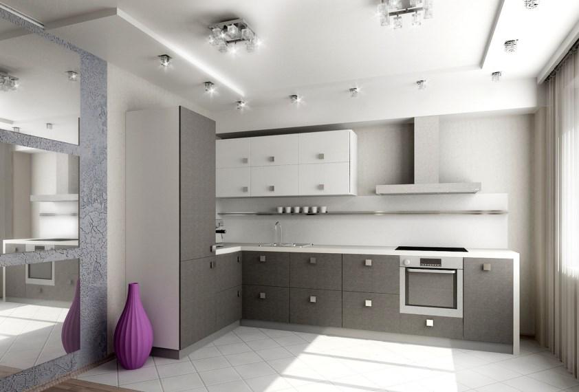 цвет и фактура поверхностей кухни минимализм