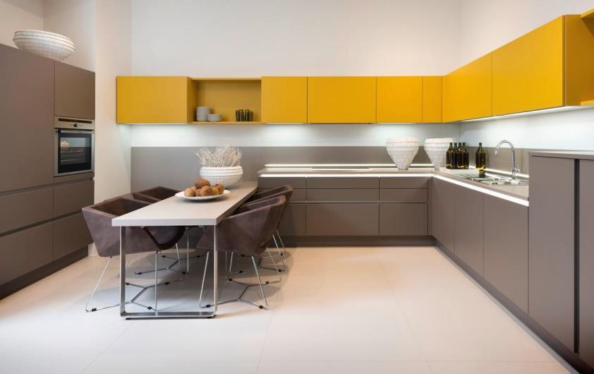 отделка стен кухни в стиле минимализм