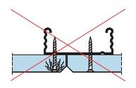 Неправильное крепление к профилю гипсовой строительной плиты