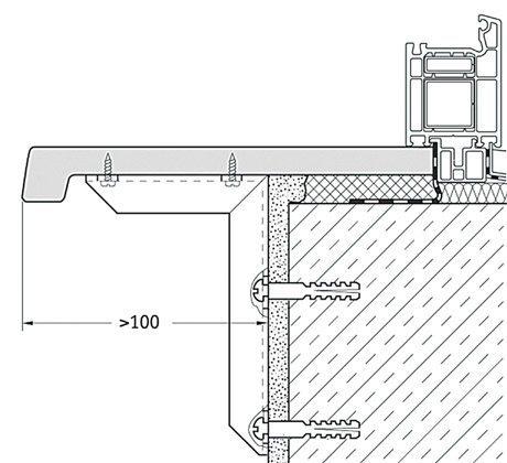 установка подоконника пвх на балконе