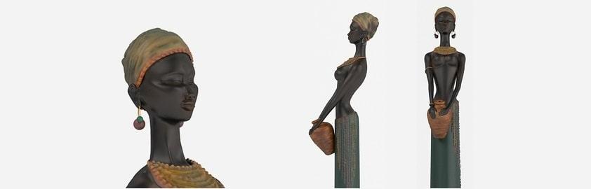 африканские статуэтки в интерьере