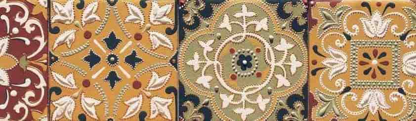 керамическая плитка из Марокко с этническими орнаментами