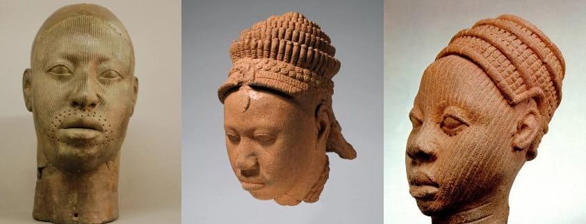 бронзовые и терракотовые головы