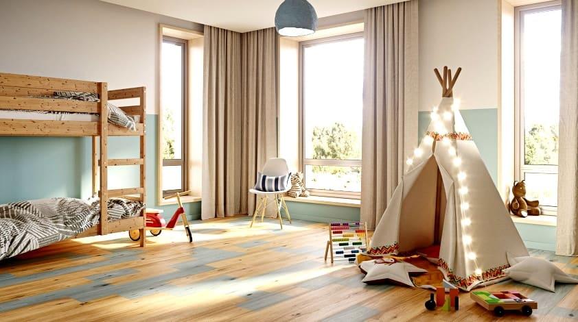 напольные покрытия в детской комнате