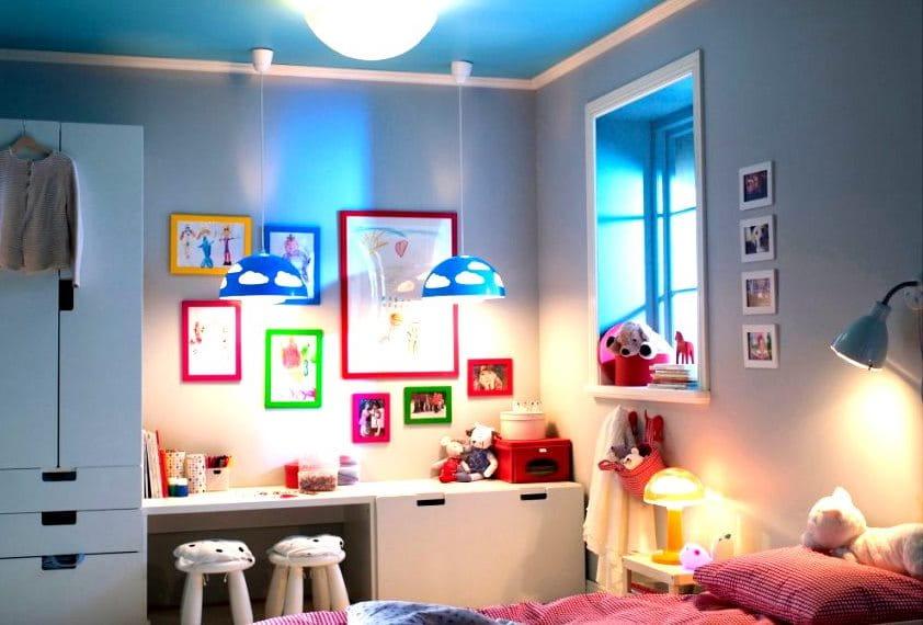 освещение и цвет в детской комнате