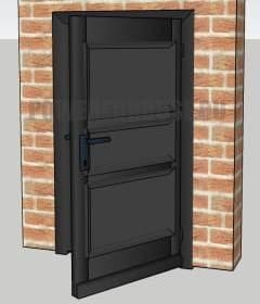 черная входная дверь по фен шуй