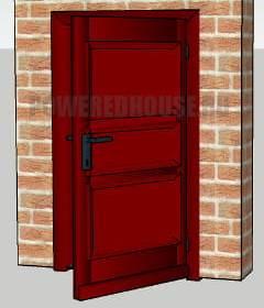 красная входная дверь по фен шуй