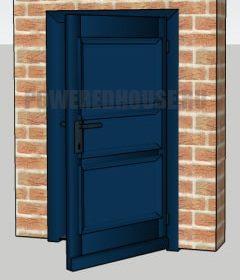 синяя входная дверь по фен шуй