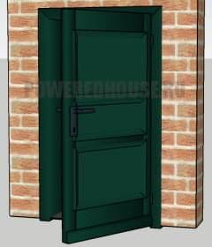 зеленая входная дверь по фен шуй
