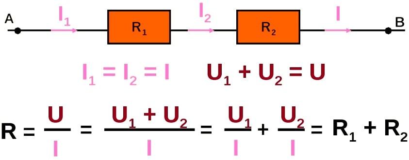 правила последовательного соединения резисторов