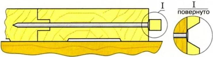 сухие доски можно скрепить гвоздями