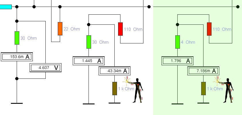 моделирование ситуаций с повторным заземлением