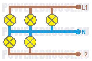 параллельное соединение электрической цепи