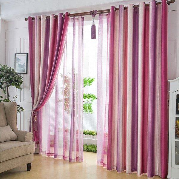 полосатые шторы