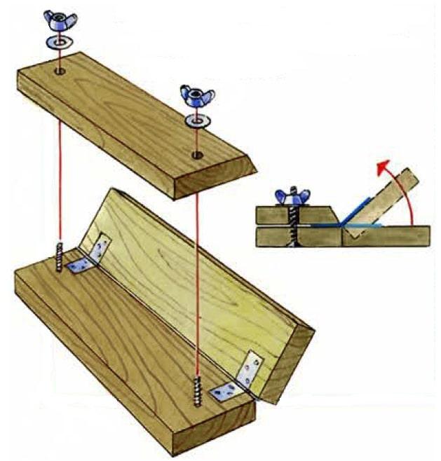 деревянный листогиб схема
