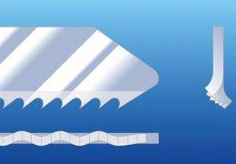 фрезерованные зубья с волнистой разводкой