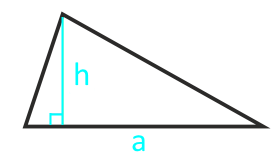 калькулятор площади треугольника по основанию и высоте