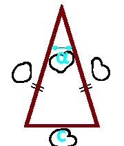площадь равнобедренного треугольника по основанию и углу между боковыми сторонами - онлайнПлощадь равнобедренного треугольника по основанию и углу между боковыми сторонами - онлайн
