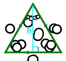 площадь равностороннего треугольника по высоте