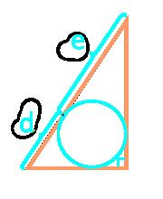 площадь прямоугольного треугольника по отрезкам, на которые делит гипотенузу вписанная окружность