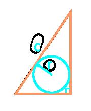 площадь прямоугольного треугольника через гипотенузу и вписанную окружность - расчет
