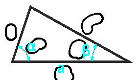 площадь произвольного треугольника по стороне и двум прилежащим углам - расчет