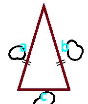 площадь равнобедренного треугольника по боковым сторонам и основанию - калькулятор