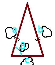 площадь равнобедренного треугольника по боковой стороне, основанию и углу между ними - расчет