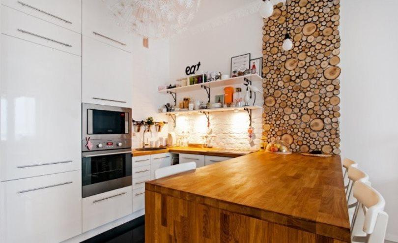 панно из спилов на кухне