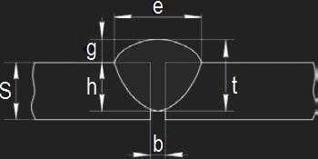 геометрические параметры стыкового шва