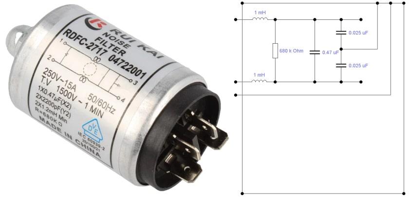 электрическая схема сетевого фильтра