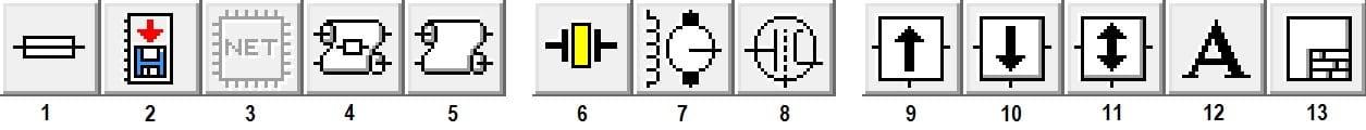 раздел Miscellaneous в программе Electronics Workbench