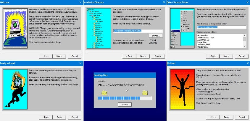 Electronics Workbench 5.12 - инструкция по установке и настройке