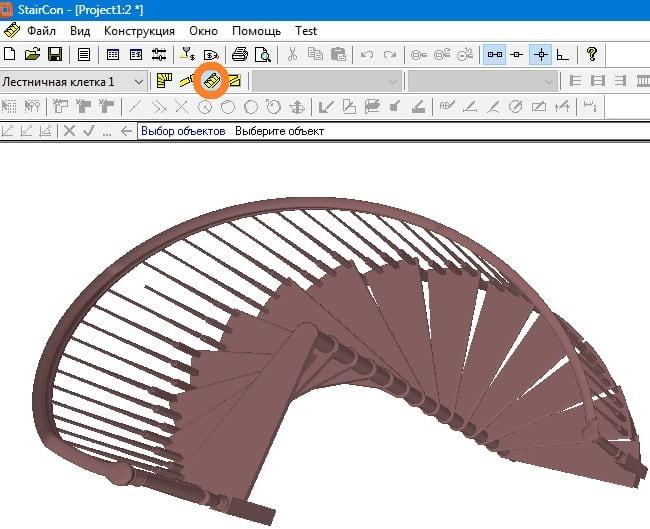 проектирование и расчет винтовой лестницы в программе StairCon
